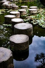 Heian Jingu Gardens (TheAmazingShrinkingMan) Tags: heianjingu garden pond steppingstones