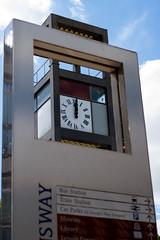 Stevenage Town Centre Clock (Happydays 65) Tags: clock clocktower towncentre stevenage time 12noon nikond7100 nikon35mmlens shoppingcentre