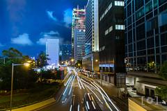 Light Trail in Hong Kong (akira.nick66) Tags: holiday hongkong holidays travel traveling travels traveller vacation night nightphotography nightscape nightview nightscene lights colorofthelights colorfullights city cityscape