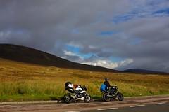 Near Glencoe, Argyll (urbannivag) Tags: northcoast500 scotland adv triumph speedtriple motoguzzi v7 motorbikes adventure touring