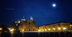 Italy by night: Padova - Basilica di S. Giustina (Bebo_cik) Tags: moon blue night nightphotography church italy padova