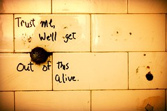 Trust me, we'll get out of this alive. (#blindowlunderground) Tags: rhymesayers eyedeaandabilities michaellarsen eyedea blindowlunderground love art beauty vacancy vacant abandonment abandoned ue urbanexploration urbex