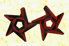 Dancing stars (De Rode Olifant) Tags: origami paper marjansmeijsters star dancingstars modular aldosmarcell paperfolding