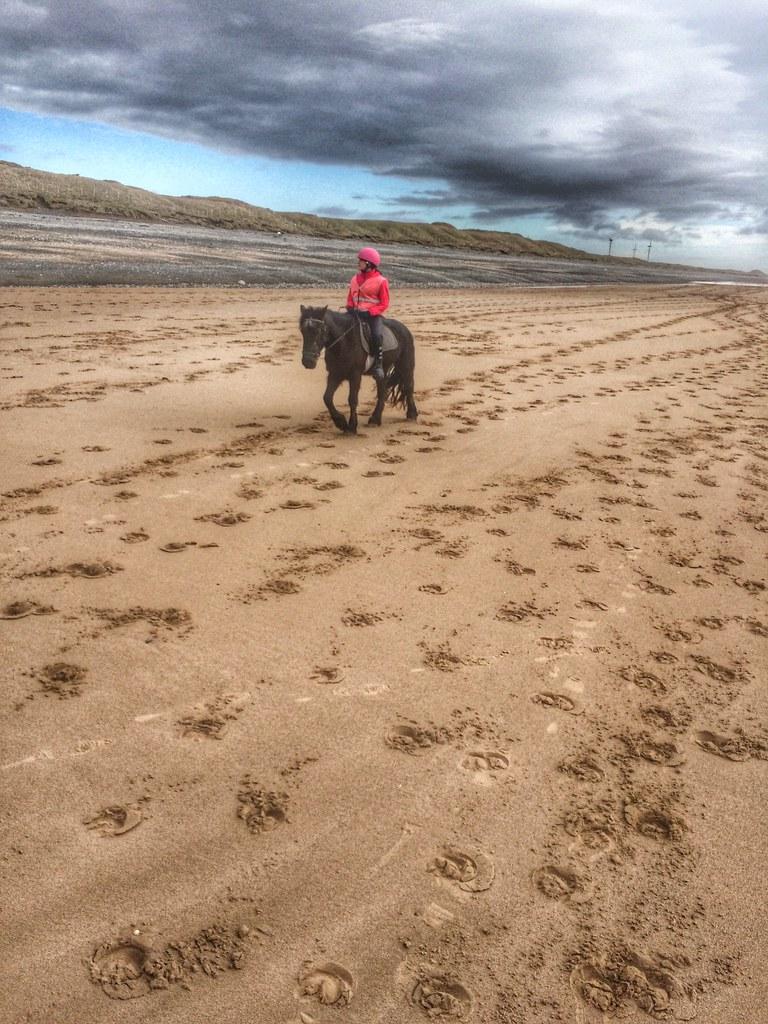 Beach riding, Silecroft