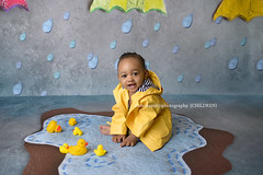 Jayce (njmommyof3boys) Tags: boy baby rain puddle spring ducks ducky rubberducky umbrellas raincoat duckie minisessions