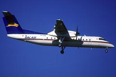 Dac Air DHC-8-311 YR-GPM BCN 23/11/1997 (jordi757) Tags: barcelona nikon airplanes bcn kodachrome f90x dash8 kodachrome64 avions dehavilland elprat dhc8300 lebl dacair yrgpm