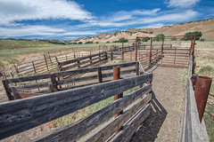 DSC_8383-616.jpg (RHMImages) Tags: ranch clouds pen fence landscape wooden rust bluesky rusted rusting brentwood stables brionesvalleyroad