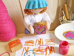 Agora, corações para dar muito amor! (Ateliê Bonifrati) Tags: cute diy craft stamp tutorial pap stampcraft carimbo passoapasso bonifrati