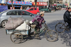 salvage specialist, Anyang City, China (vtpoly) Tags: poverty china people streets garbage culture bicycles recycling salvage henanprovince anyang polywoda