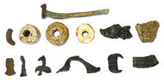 Size Ratio Montage 2 (metallic) (Welcome to The PAST) Tags: gold hammered roman brooch medieval celtic viking flint saxon scraper neolithic ironage fibula romanobritish metaldetecting stater corieltauvi knapped samianware metaldetectingfinds romanmedieval tangedandbarbed