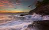 Cascading the Wall (rayman102) Tags: sunset seascape hawaii oahu portlock watermotion chinawalls
