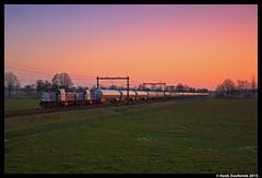 LTE 6406 + 6409, Rijssen 17-3-2015 (Henk Zwoferink) Tags: sunset is und zonsondergang transport dsm henk bv holten geleen consequence logistik gatx rijssen vtg gmbh 6406 6409 lte de6400 zwoferink gasketelwagens ltegroup ltenetherlands