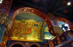 St. Sava Serbian Orthodox Cathedral 11 (milomingo) Tags: church parish wisconsin religious lowlight midwest arch cathedral milwaukee ornate orthodox placeofworship serbian stsava serbiandaysfestival2014 serbhallfestival2014