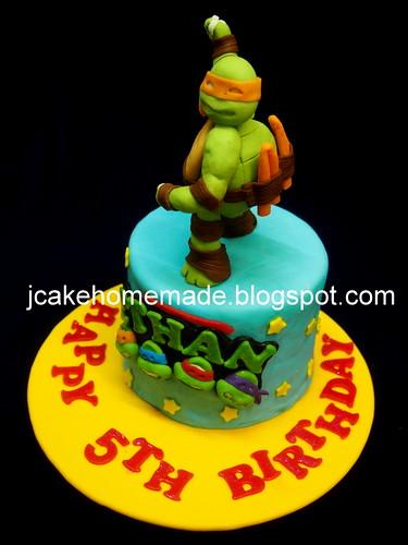 Excellent Ninja Turtle Birthday Cake A Photo On Flickriver Funny Birthday Cards Online Necthendildamsfinfo