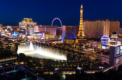 Amazing view of the Vegas strip and the famous Fountains of Bellagio (markbernabe) Tags: party lasvegas nevada casino strip nightlife thecosmopolitanoflasvegas