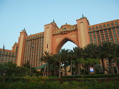 Atlantis Hotel, the Palm. Its said that they have a living killerwhale somewhere on their compound.