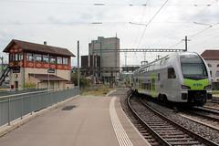 BLS Ltschbergbahn DOSTO - Doppelstockzug Mutz RABe 515 011 noch ohne Taufname vom Typ KISS der Firma Stadler Rail am Bahnhof Kerzers im Kanton Freiburg der Schweiz (chrchr_75) Tags: chriguhurnibluemailch christoph hurni schweiz suisse switzerland svizzera suissa swiss chrchr chrchr75 chrigu chriguhurni april 2015 eisenbahn bahn train treno zug schweizer bahnen bahnhhof kerzers kantonfreiburg kantonfribourg stadler rail dosto doppelstockzug doppelstcker rabe 515 bls ltschbergbahn mutz albumzzz201504april albumbahnenderschweiz albumbahnenderschweiz201516 albumblsltschbergbahn juna zoug trainen tog tren  lokomotive  locomotora lok lokomotiv locomotief locomotiva locomotive railway rautatie chemin de fer ferrovia  spoorweg  centralstation ferroviaria