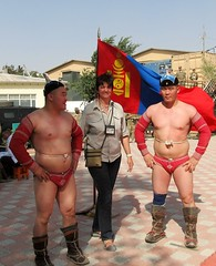 Mongolian Army Wrestlers