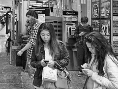 Communicating Queen St Mall Brisbane (bidkev1 and son (see profile)) Tags: street camera boy portrait people urban art girl monochrome photoshop canon lens photography eos photographer phone candid text australian streetphotography photojournalism lifestyle places brisbane photographic communication portraiture leisure communicate digitalphotography texting blackandwhitephotography professionalphotography stockphotography alternativelifestyle candidphotography photographicequipment artphotography documentaryphotography stilllifephotography eventphotography hdrphotography australiatravel fineartimages canonequipment photographicprints streetphotography imagesofaustralia photographictools imagesofqueensland canonphotography photographywithcanonequipment comminicating candidphotography documentaryphotography buystreetphotography urbanphotography cityphotography beachphotography peoplephotography kevindickinsonfineartphotography