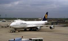 D-ABYM. Lufthansa Boeing 747-230B (Ayronautica) Tags: frankfurt aviation 1996 may scanned boeing lufthansa airliners eddf b742 dabym 747230b ayronautica
