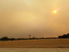 Pyrocumulus cloud lingers over Lancaster, California along with ash fall, humidity and 110 degree (43 Celcius) hea . #Sun #Sonn #DiplocaulusCloud #Pyro #Pyrocumulus #Orange #Glow #Fire #Firecloud #California #SoCal #Ash #Blocked #Abend #Blockage #Rays #He (kakragb) Tags: heat california pyrocumulus glow humidity ash socal firecloud blocked pyro rays diplocauluscloud fire blockage abend sun summer sonn orange