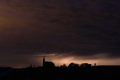 A Night to Remember (TigerPal) Tags: saskatchewan sask balgonie edenwold prairie plains storm weather stormchasing lightning church silhouette silhouettephotography thunder rain longexposure stjohnslutheranchurch