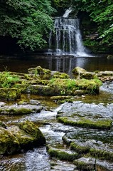 Cauldron Falls (amhjp) Tags: dales yorkshiredales yorkshire england english british britain landscape landmark waterfalls cauldronfalls westburtonfalls amhjpphotography amhjp nikon nikondslr nikond7000 outdoors countryside countrypark historical historic history heritage