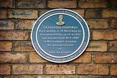 Catherine Eddowes Plaque (Rasp) (goodfella2459) Tags: nikon f65 revolog rasp 200 35mm c41 film analog specialty colour catherine eddowes plaque wolverhampton jack ripper crime history whitechapel mitre square london spitalfields milf