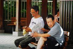 Yaumatei old men (Edvard Tam) Tags: hongkong street streetphotography yaumatei man men