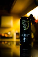 Guinness is good for you! (MSC_Photography) Tags: dublin irish black cold kitchen beer contrast 35mm dark pub nikon bokeh can fresh guinness bier kche nikkor lowkey kalt kontrast schwarz tabletop dunkel afs draught dose khl d5100 118g