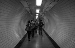 2016_202 (Chilanga Cement) Tags: fuji fujix100t x100t xseries x100s x100 bw blackandwhite people station london tunnel walking