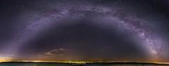Milky Way Panorama (Dennis Kirstein) Tags: panorama tree tower nature night germany stars landscape corn nightshot wheat sony natur galaxy schwarzwald blackforest milkyway kaltenbronn milchstrase astroscape