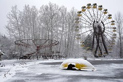 'Snow go area'... (Taken-By-Me) Tags: takenbyme abandoned adventure ferris wheel theme park bigwheel ferriswheel big snow black white yellow amusement closed creepy centre chemical chernobyl derelict decay demolished explore exploring empty eerie forgotten city gone left nikon neglect news nuclear power plant powerplant station pripyat ruin shut urbex urban ue ukraine radiation reactor vacant zone