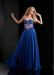 Exquisite Tulle & Chiffon Sweetheart Neckline See Through A-Line Sexy Prom Dresses With Beaded Lace Appliques (miyadresses2016) Tags: sequindress floraldress chiffondress stunningdress sexypromdresses lacedress halterdress prettydress uniquedress bluedress