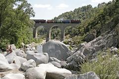 La baignade_1072 (hervv30140) Tags: france gard cvennes paysage pont train vapeur baignade rivire rocher tourisme vacance touriste vacancier baigneur
