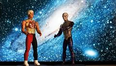 Pulsar and Hypnos at the space (Peli Toys) Tags: pulsa hypnos