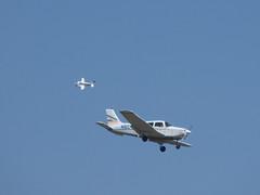 CRW_4291-c1 (Farhill) Tags: airplane beechcraft beechcraftbaron n84pe piper pipercherokee n82487
