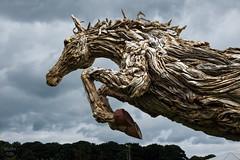 the launch | tatton park (John FotoHouse) Tags: sculpture rhs tattonpark dolan flickr fujifilmx100s fuji johnfotohouse johndolan july leedsflickrgroup color colour copyrightjdolan 2016 horse jamesdoranwebb