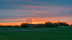 Burnwork orange (paulius.malinovskis) Tags: sony summer sweden scandinavia uppsala sunset beautiful pipes outskirts city orange