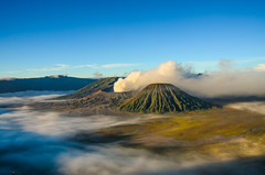 Mist of Mount Bromo (narenrit) Tags: bromo mountain mist light sun sunrise cloud sky morning valcano tree view beauty hill top scenic indonesia tropical asia asian east cliff travel trip mount sapatate different village country