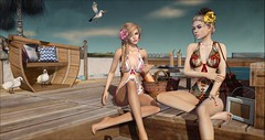 Nevermind (Duchess Flux) Tags: treschic theliaisoncollaborative thechapterfour shinyshabby enchantment luas nomatch lode theskinnery catwa deetalez arise drd deathrowdesigns sway ohmai summer swimsuits beach dock secondlife sl