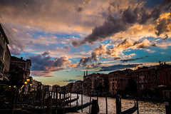 Venice sunset (ArtinArt) Tags: venice italy love city water canals houses sticks