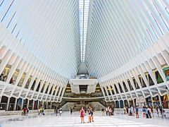 Oculus inside (albyn.davis) Tags: architecture oculus nyc newyorkcity manhattan white modern contemporary calatrava subway station city urban lines