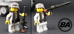 Overmolded MG34 (v1!) (BrickArms) Tags: brickarms gibrick mg34 lego ww2