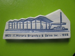 E. MORENO BRANDAO & SONS INC. (streamer020nl) Tags: paperweight moreno brandao 1923 1988 65th anniversary showroom car curacao