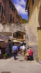 Back and Forth (nikearcidiacono) Tags: monterosso village italy landscape sonya5100 people italia al mare cinque terre five lands fivelands cinqueterre monterossoalmare