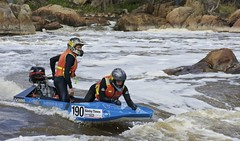 Holdin' On (Padmacara) Tags: australia avondescent d7100 nikkor18140 powerboat outboard 190 water river rapids foam