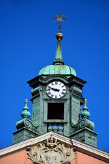 Church of the Nativity / Warsaw (Images George Rex) Tags: churchofthenativityoftheblessedvirginmary architecture clocktower cupola copper baroque church photobygeorgerex imagesgeorgerex warsaw poland warszawa clock