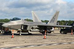 AF01-022 | Lockheed Martin F-22A Raptor | USAF (cv880m) Tags: willowrun detroit michigan thunderovermichigan airshow yip kyip af01022 lockheed martin lockheedmartin f22 f22a raptor stealth usaf tyndall fighter unitedstatesairforce airforce military