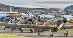 LETS ROLL (mark_rutley) Tags: airdisplay aircraft airforce airshow aviation duxford iwmduxford hurricane spitfire worldwar2 worldwarii worldwartwo fighter imperialwarmuseum museum air show